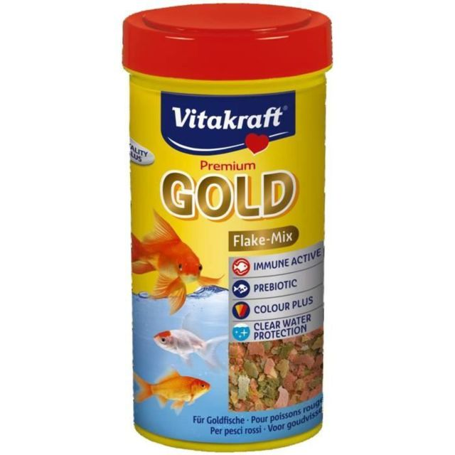 Vitakraft Gold aliment en flocons - Pour poisson rouge - 250 ml