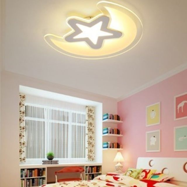 Lampe suspendue Luminaire Salon Plafonnier Creative Simple Led Star Moon  Nordic Art Chambre Moderne 780mm Blanc Chaud