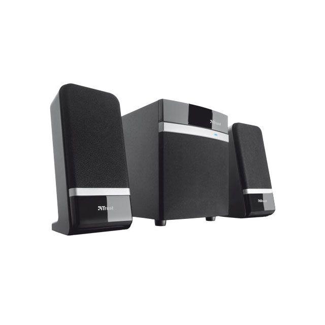 TRUST Enceintes Raina 2.1 Système d'enceintes compact de 20 W avec caisson de basses (10 Watt RMS)