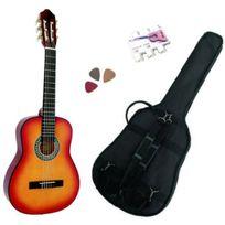 Msa - Pack Guitare Classique 3/4 8-13ans, Pour Enfant Avec 3 Accessoires sunburst