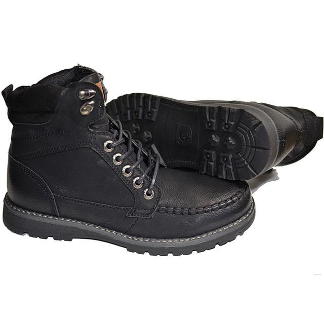 d90d97c8dd700 No Brand - Bottes montantes noir buisness casual modele Forestbasket,  botte, bottes, botte