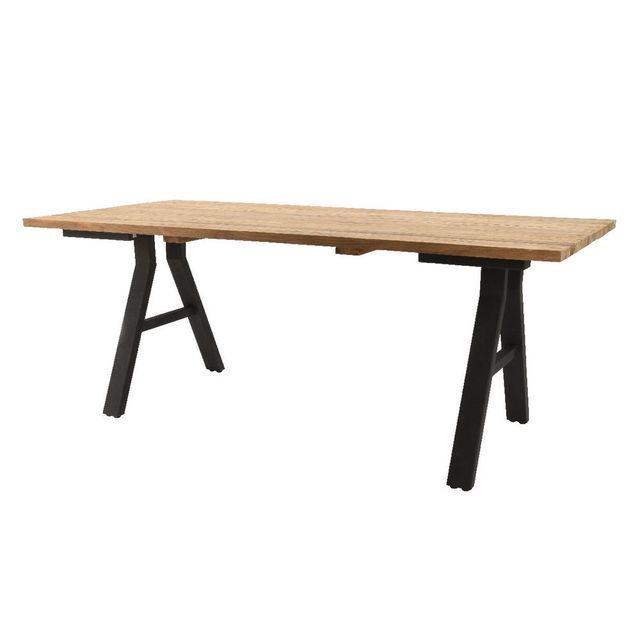 House Bay Table de salle à manger en Teck massif style industriel L200 cm Ellie