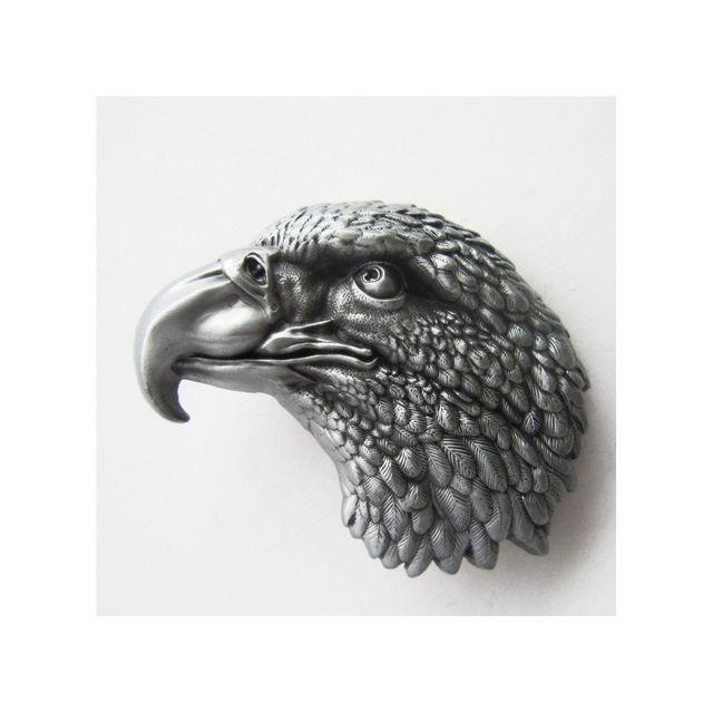 99554374425 Universel - boucle de ceinture tete d aigle gris homme femme country ...