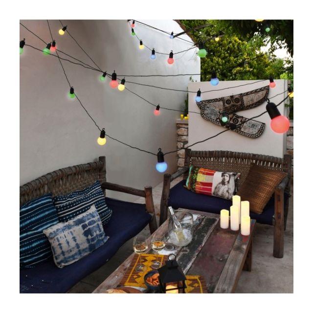 BLACHERE ILLUMINATION - Guirlande décorative type guinguette multi-couleur