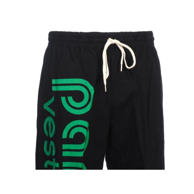 Panzeri - Pantalon de survêtement Uni h noir/vert jersey Noir 29303