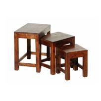 Inside75 - Table Basse Gigogne Adam en Bois Acacia Style Colonial