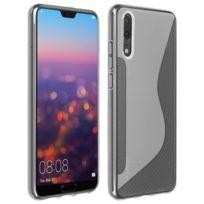 Avizar - Coque Huawei P20 Protection Silicone Souple S-line - Blanc givré