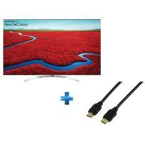 LG - TV LED 55'' 139cm - 55SJ850V + Cordon HDMI 1.4 - 1.5 mètres