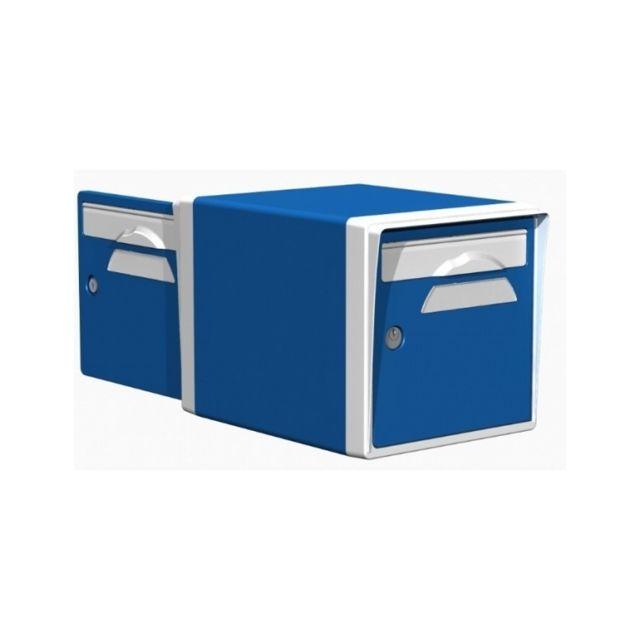creastuce boite aux lettres 2 portes bleue blanche 09 df pas cher achat vente bo te aux. Black Bedroom Furniture Sets. Home Design Ideas