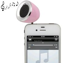 Yonis - Mini enceinte portable jack 3.5 Mp3 Smartphone Tablette Rose