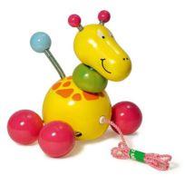 Vilac - Jouet à tirer Baby Paf la girafe