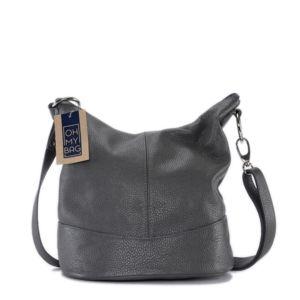 OH MY BAG Sac à main femme en cuir - Modèle Beaubourg taupe foncé - Soldes Jeu À La Recherche De afwgbX