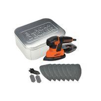 Black & Decker - Ka2000AT Ponceuse Mouse® 120W boîte métal + accessoires 10 pcs
