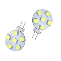 Autoled - 150 - 2 ampoules Led G4 special camping-cars 12V 6 Smd 5050 blanc