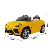 LAMBORGHINI - Urus voiture électrique pour enfants 3-8 ans 6 V 3-4 Km/h virtual cockpit télécommande phares LED jaune neuf 46