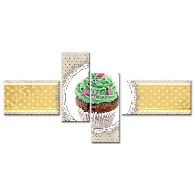 Declina Tableau cuisine décoration cupcake - Décoration murale moderne