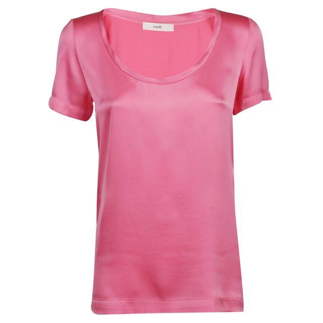 Suoli Femme S2912001L1592 Rose Soie T-shirt