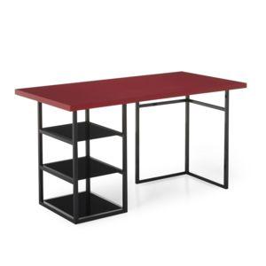 alin a ludo bureau 75x150cm avec tr teau et caisson ouvert 3 tablettes pas cher achat. Black Bedroom Furniture Sets. Home Design Ideas