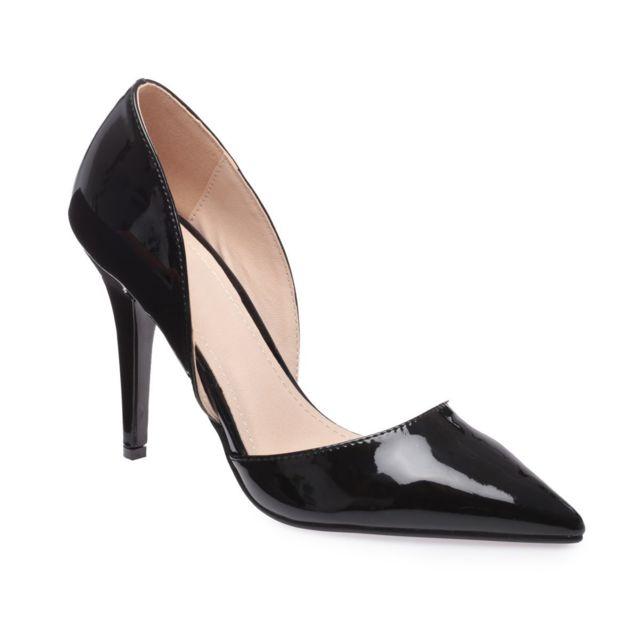 remise chaude texture nette nouveau style La Modeuse - Escarpins d\'Orsay vernis noirs - pas cher ...