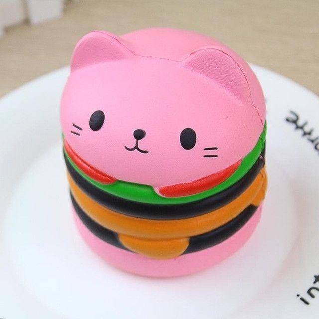 Wewoo 10 Pcs Bande Dessinée Chat Enfant Cadeau Doux Soulagement Du Stress Squeeze Toy Rose