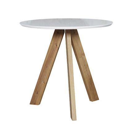Table de bar diam 100cm Mdf et chêne naturel
