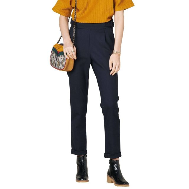 Bleu 36 Pantalon Ellen Cher Port Achat Vente Pas Sessun Marine qpwCn