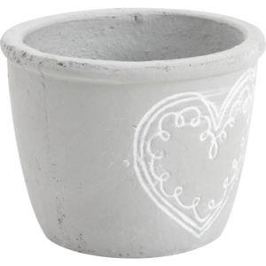 aubry gaspard cache pot coeur en ciment taille 3 pas cher achat vente poterie bac. Black Bedroom Furniture Sets. Home Design Ideas