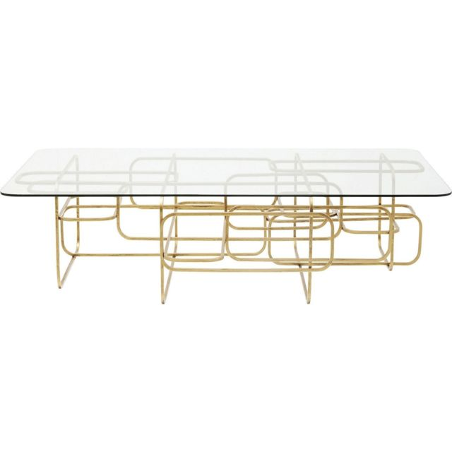 Karedesign Table basse Meander dorée 140x80cm Kare Design