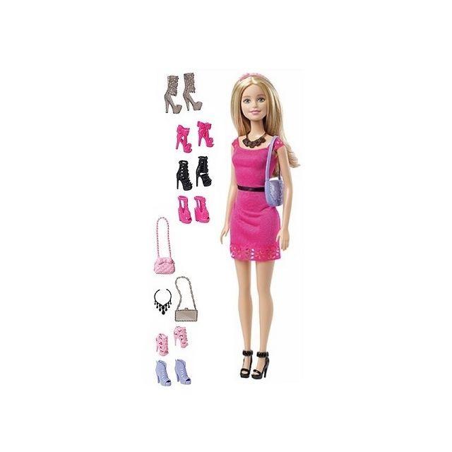 barbie mattel coffret poup e avec chaussures et. Black Bedroom Furniture Sets. Home Design Ideas