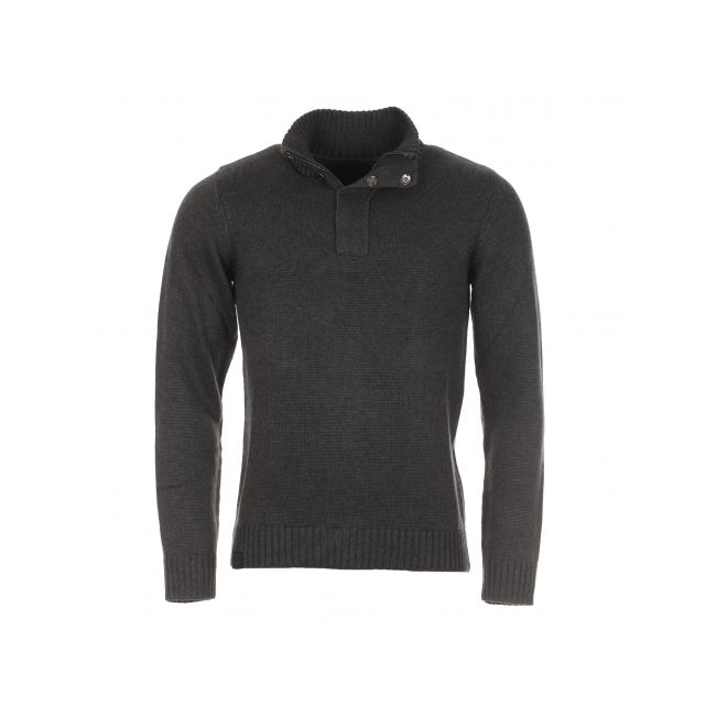 Teddy Smith - Pull col montant en laine gris