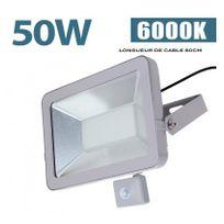 Starwatt - Projecteur Led 50W Classic Detecteur Mouvement 6000K Blanc Froid