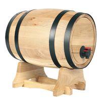 Saveur Et Dégustation - Tonneau à vin - Distributeur de vin - 5.5 Litres - Avec robinet et support