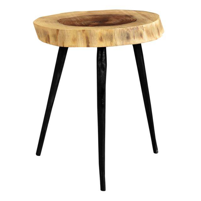 Rendez Vous Deco Table basse ronde Angul
