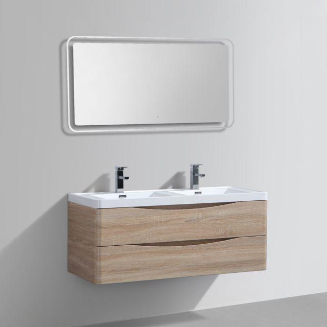 Import diffusion meuble salle de bains double vasque for Vasques import