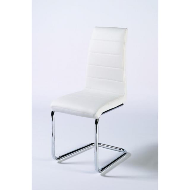 Meubles Thiry Chaise design 100 cm Libera coloris blanc