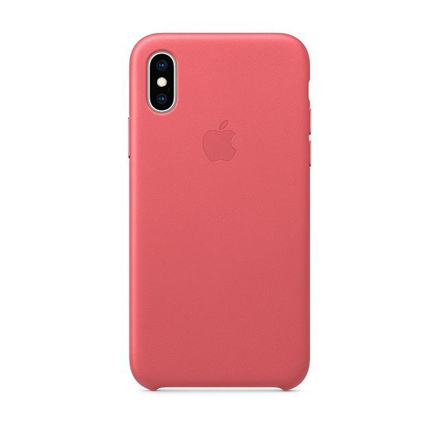 APPLE iPhone XS Leather Case - Rose Pivoine Ces coques conçues par Apple épousent les courbes de votre iPhone sans en compromettre la ligne.