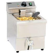 Casselin - friteuse électrique 8l 3250w avec vanne de vidange - cfev8