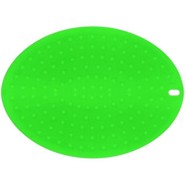 Promobo Dessous De Plat Manique Ovale Double Fonction Deux En Un Silicone Tonique Vert