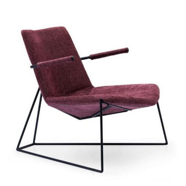 Mathi Design Solveig - Fauteuil design contemporain prune
