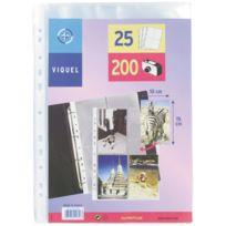 Viquel - pochettes perforees pour photos 10x15cm - paquet de 25