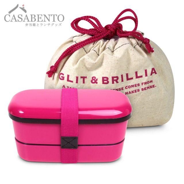 Casabento Lunchbox Glit & Brillia Slim Rose + Sac