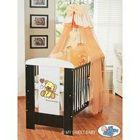 Autre - Lit et Parure de lit bébé teddy bear pêche ciel de lit coton 120 60