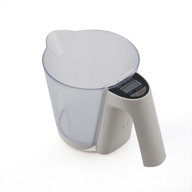 Balance de cuisine digitale avec verre doseur - Blanc