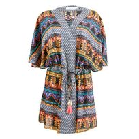 Seafolly - Tunique Spice Temple Folk Kaftan Multicolore