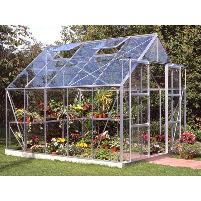 Habitat et jardin serre verre magnum 108 x x m pas cher achat - Serre de jardin carrefour ...