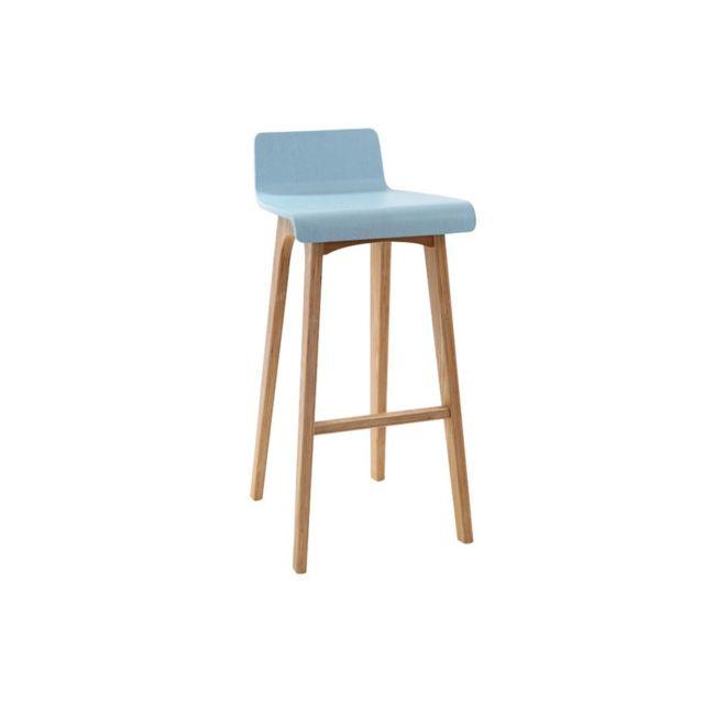 Bar Chaise 75 Cm Bleu De Baltik Scandinave DHE2IW9