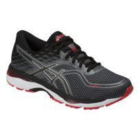 more photos 9141b 3bee7 Asics - Gel Cumulus 19 Grise Et Rouge Chaussures Running