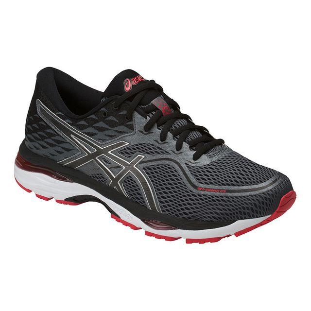 2f5b4ecc28b Asics - Gel Cumulus 19 Grise Et Rouge Chaussures Running - pas cher Achat   Vente  Chaussures running - RueDuCommerce