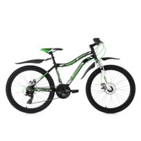 KS CYCLING - VTT enfant semi rigide 24'' Phalanx noir-vert TC 38 cm