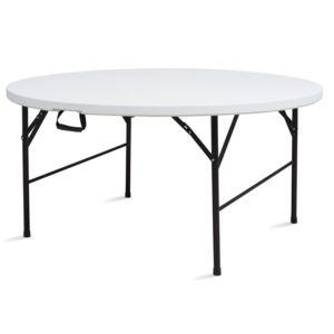 mobeventpro table pliante de camping ronde 150cm 8 places blanche 150cm x 74cm x 150cm pas. Black Bedroom Furniture Sets. Home Design Ideas